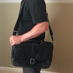 Black Coach Briefcase/Commuter Bag